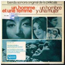 Discos de vinilo: BANDA SONORA DE LA PELICULA UN HOMBRE Y UNA MUJER - EP 1966. Lote 222466636