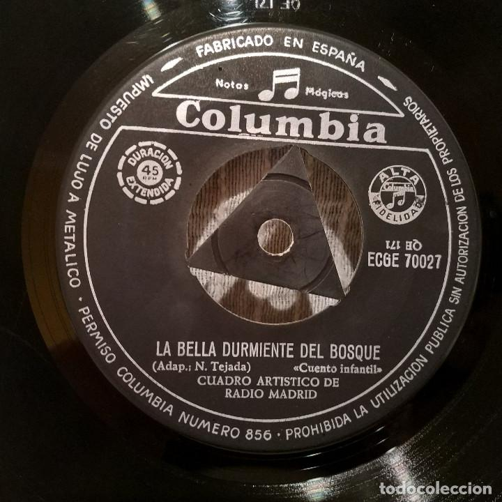 Discos de vinilo: CUENTOS INFANTILES / CAPERUCITA ROJA / LA BELLA DURMIENTE DEL BOSQUE - RARO EP COLUMBIA ECGE 70027 - Foto 4 - 222469907