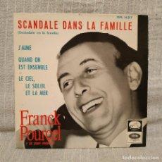 Discos de vinilo: FRANCK POURCEL Y SU GRAN ORQUESTA - SCANDALE DANS LA FAMILLE + 3 - RARO EP DEL AÑO 1965 BUEN ESTADO. Lote 222471758