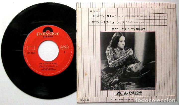 Discos de vinilo: Alfred Hause & His Orchestra - Romeo & Juliet / The Sound Of Music - Single Polydor 1973 Japan BPY - Foto 2 - 284560658