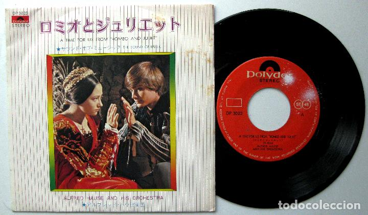ALFRED HAUSE & HIS ORCHESTRA - ROMEO & JULIET / THE SOUND OF MUSIC - SINGLE POLYDOR 1973 JAPAN BPY (Música - Discos - Singles Vinilo - Bandas Sonoras y Actores)