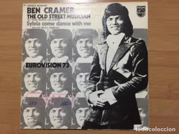 Discos de vinilo: BEN CRAMER. The old street musician (vinilo single 1973) - Foto 2 - 222479325