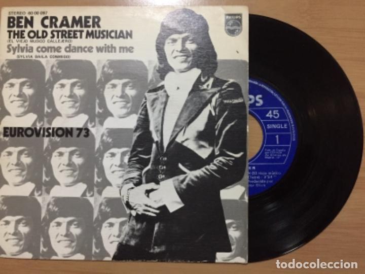 BEN CRAMER. THE OLD STREET MUSICIAN (VINILO SINGLE 1973) (Música - Discos - Singles Vinilo - Festival de Eurovisión)