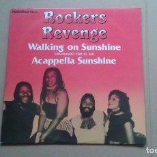 Discos de vinilo: ROCKERS REVENGE - WALKING ON SUNSHINE MAXI SINGLE 1982 EDICION ESPAÑOLA. Lote 222485397