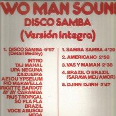 Discos de vinilo: TWO MAN SOUND DISCO SAMBA. Lote 222491410