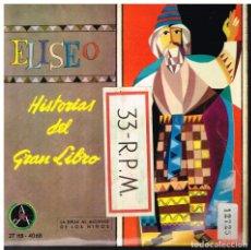 Discos de vinilo: ELISEO- HISTORIAS DEL GRAN LIBRO - LOS DOS OSOS - EP 1962. Lote 222493591