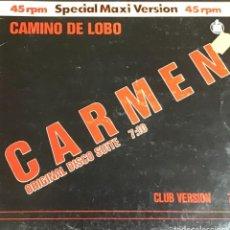 Discos de vinilo: CAMINO DE LOBO - CARMEN. Lote 222493941
