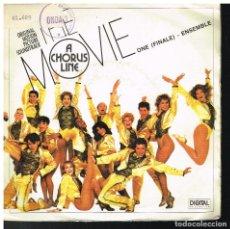 Discos de vinilo: A CHORUS LINE - ORIGINAL MOTION PICTURE SOUNDTRACK - SINGLE 1985. Lote 222494092