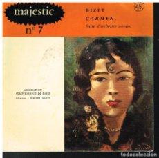 Discos de vinilo: MAJESTIC Nº 7 - BIZET, CARMEN - EP 1959 - ED. FRANCIA. Lote 222494985
