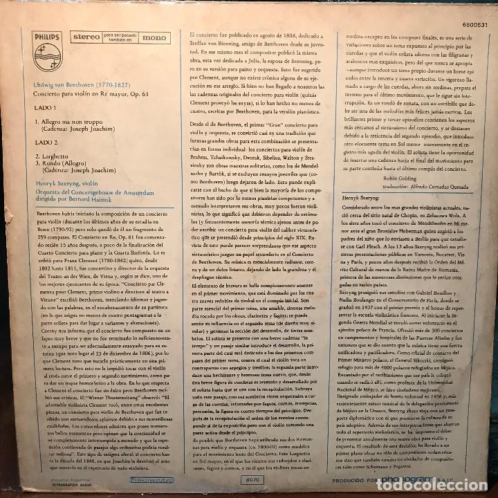 Discos de vinilo: LP argentino de la Orquesta del Concertgebouw de Amsterdam año 1975 - Foto 2 - 222497798