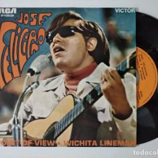 Disques de vinyle: JOSÉ FELICIANO - POINT OF VIEW / WICHITA LINEMAN (SINGLE) (RCA VICTOR). Lote 222500975
