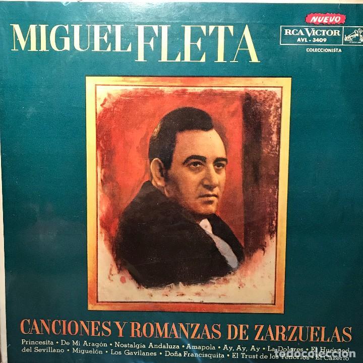 LP ARGENTINO Y RECOPILATORIO DE MIGUEL FLETA AÑO 1961 (Música - Discos - LP Vinilo - Clásica, Ópera, Zarzuela y Marchas)
