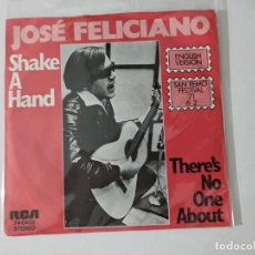 Disques de vinyle: SAN REMO '71' JOSE FELICIANO ( SHAKE A HAND - THERE'S NO ONE ABOUT ) GERMANY SINGLE45 RCA. Lote 222501271