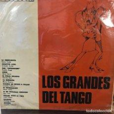 Discos de vinilo: LP ARGENTINO DE ARTISTAS VARIOS LOS GRANDES DEL TANGO AÑO 1967. Lote 222501635