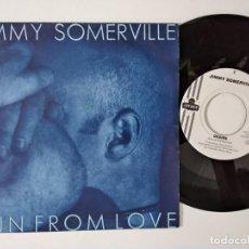Discos de vinilo: JIMMY SOMERVILLE - RUN FROM LOVE - 1991. Lote 222502958
