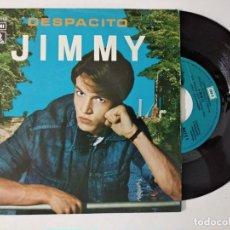 Discos de vinilo: JIMMY. DESPACITO/ VEN A BAILAR. EMI-ODEON, SPAIN 1980 SINGLE. Lote 222503016