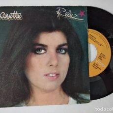 Discos de vinilo: JEANETTE - RELUZ + MAS DE CIEN SENTIDOS SPAIN 1983. Lote 222503248
