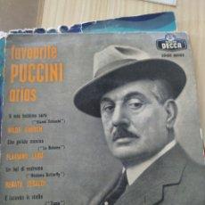 Discos de vinilo: PUCCINI ARIAS, 1959, 7 PULGADAS. Lote 222504323