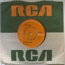 Discos de vinilo: ELVIS PRESLEY. SUSPICIOUS MINDS/ YOU'LL THINK OF ME. RCA, UK 1969 SINGLE. Lote 222505453