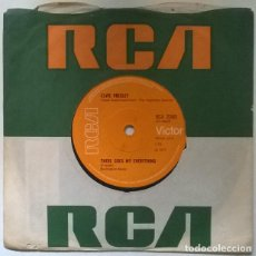 Discos de vinilo: ELVIS PRESLEY. I REALLY DON'T WANT TO KNOW/ THERE GOES MY EVERYTHING. RCA, UK 1971 SINGLE. Lote 222505766