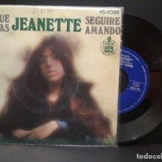 Discos de vinilo: JEANETTE PORQUE TE VAS SINGLE SPAIN 1974 PDELUXE. Lote 222505845