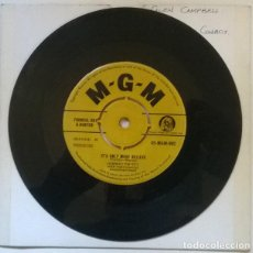 Discos de vinilo: CONWAY TWITTY. I'LL TRY/ IT'S ONLY MAKE BELIEVE. MGM, UK 1958 SINGLE. Lote 222506341