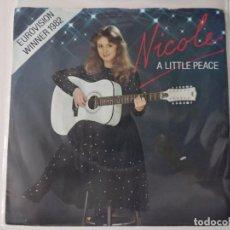 Disques de vinyle: NICOLE - A LITTLE PEACE ( EUROVISION 1982 ). Lote 222506728