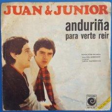 Discos de vinilo: SINGLE / JUAN & JUNIOR / ANDURIÑA - PARA VERTE REIR / NOVOLA NOX-58 / 1968. Lote 222507017