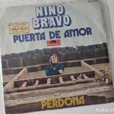 Discos de vinilo: NINO BRAVO. PUERTA DE AMOR. PERDONA. 1970. Lote 222507542