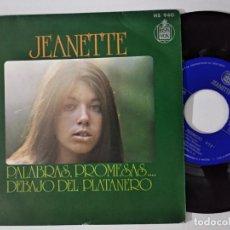Discos de vinilo: JEANETTE - PALABRAS, PROMESAS (SINGLE HISPAVOX 1973). Lote 222508301