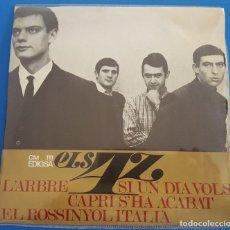 Discos de vinilo: EP / ELS 4 Z /SI UN DIA VOLS - L'ARBRE - CAPRI S'HA ACABAT - EL ROSSINYOL ITALIA/EDIGSA CM 111/ 1966. Lote 222508447