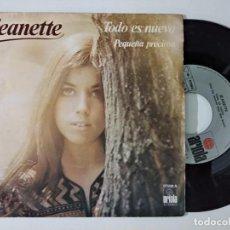 Discos de vinilo: JEANETTE DARIA CUALQUIER COSA/POR NADA DEL MUNDO SINGLE 7'' 1988. Lote 222509578