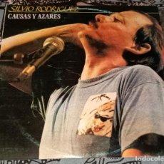 """Discos de vinilo: SILVIO RODRÍGUEZ: CAUSAS Y AZARES 2XLP 12"""". Lote 222512778"""