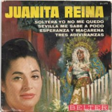 Discos de vinilo: JUANITA REINA - SOLTERA YO NO ME QUEDO..../ EP DE 1965 / BUEN ESTADO RF-4633. Lote 222514735