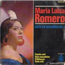 Discos de vinilo: MARIA LUISA ROMERO - SUITE EN CASTAÑUELAS/3 / EP DE 1964 / BUEN ESTADO RF-4637. Lote 222514837