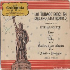 Discos de vinilo: LOS ULTIMOS EXITOS EN ORGANO ELECTRONICO - SELECCION Nº 2 - ETHEL SMITH RF-4652. Lote 222515806