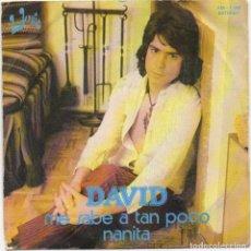 Discos de vinilo: DAVID - ME SABE A TAN POCO , NANITA / SINGLE DE 1977 / BUEN ESTADO RF-4654. Lote 222516505
