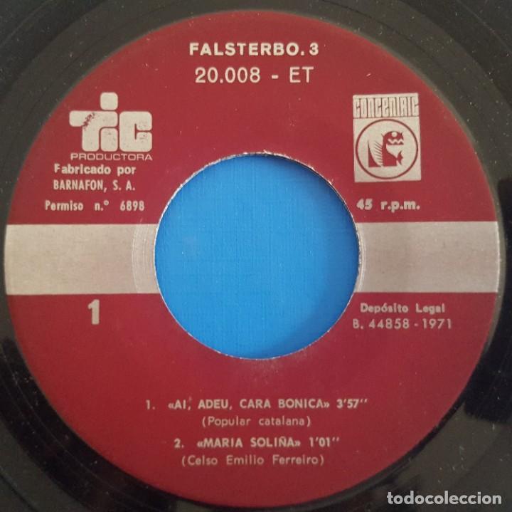 Discos de vinilo: EP / FALSTERBO - 3 / AI ADEU CARA BONICA - MARIA SOLIÑA - DEIXA LA POR - EL VELL SMOKY / RARO - Foto 3 - 222520463