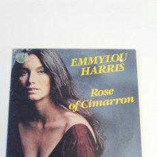 Discos de vinilo: EMMYLOU HARRIS ROSE OF CIMARRON / BORN TO RUN ( 1981 WARNER FRANCE ). Lote 222533663