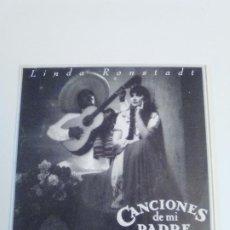 Discos de vinilo: LINDA RONSTADT TU SOLO TU / DOS ARBOLITOS CANCIONES DE MI PADRE ( 1987 ELEKTRA ESPAÑA ) PROMOCIONAL. Lote 222534388
