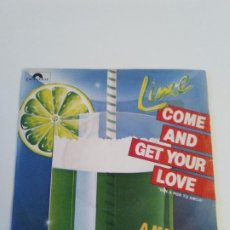 Discos de vinilo: LIME COME AND GET YOUR LOVE / A MAN AND A WOMAN ( 1982 POLYDOR ESPAÑA ). Lote 222534831