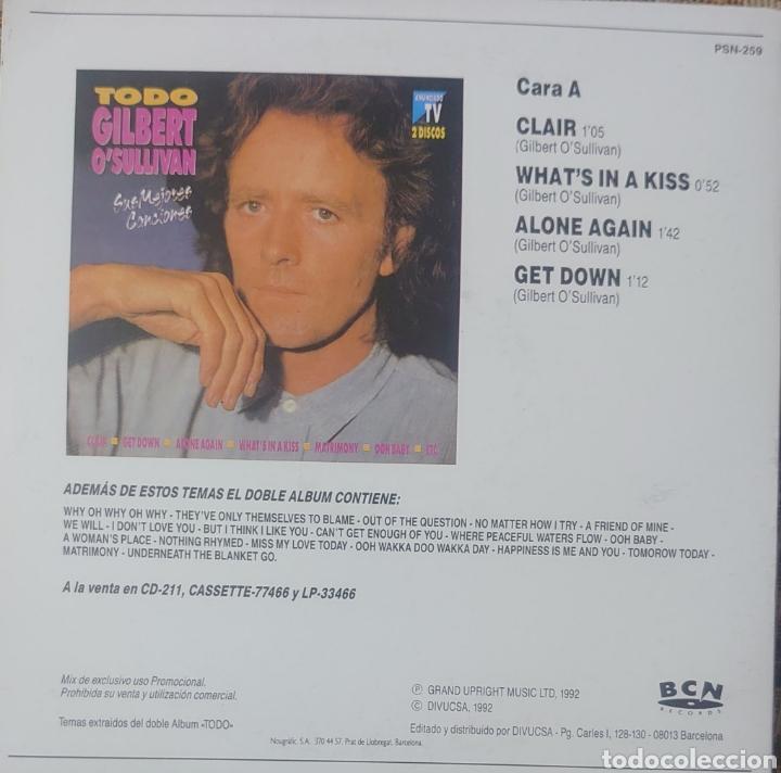 Discos de vinilo: Gilbert Osullivan Ep sello BCN editado en España año 1992... - Foto 2 - 222535073