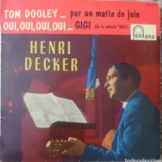 Discos de vinilo: HENRY DECKER EP SELLO FONTANA EDITADO EN ESPAÑA AÑO 1959... Lote 222537606