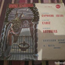 Discos de vinilo: EP ALBENIZ TARREGA CAPRICHO ARABE RCA 33 COMPACT 37-5015 SPAIN 1961 CLÁSICA. Lote 222539827