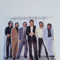 Discos de vinilo: HUEY LEWIS AND THE NEWS HIP TO BE SQUARE / SOME OF MY LIES ARE TRUE ( 1986 CHRYSALIS ESPAÑA ). Lote 222540483