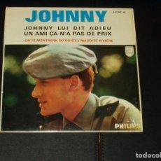 Discos de vinilo: JOHNNY HALLYDAY EP JOHNNY LUI DIT ADIEU+3 EDICION ESPAÑOLA. Lote 222540888