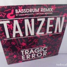Discos de vinilo: TRAGIC ERROR. TANZEN. BASSDRUM REMIX. LP VINILO. DISCOGRAFIA LOGIC RECORDS. 1989. Lote 222541255