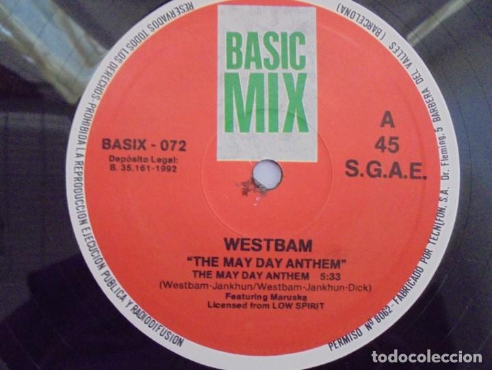 Discos de vinilo: THE MAYDAY ANTHEM. WESTBAM. DISCOGRAFIA BASIC MIX 1992. MAXI SINGLES VINILO. - Foto 3 - 222542326