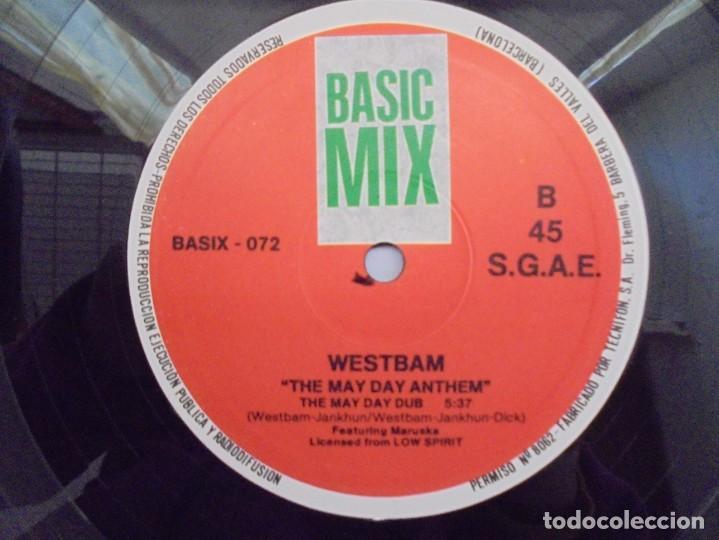 Discos de vinilo: THE MAYDAY ANTHEM. WESTBAM. DISCOGRAFIA BASIC MIX 1992. MAXI SINGLES VINILO. - Foto 6 - 222542326