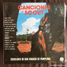 Discos de vinilo: ESCOLANÍA SAN IGNACIO DE PAMPLONA - CANCIONES SCOUT - LP PAX 1974. Lote 222542473